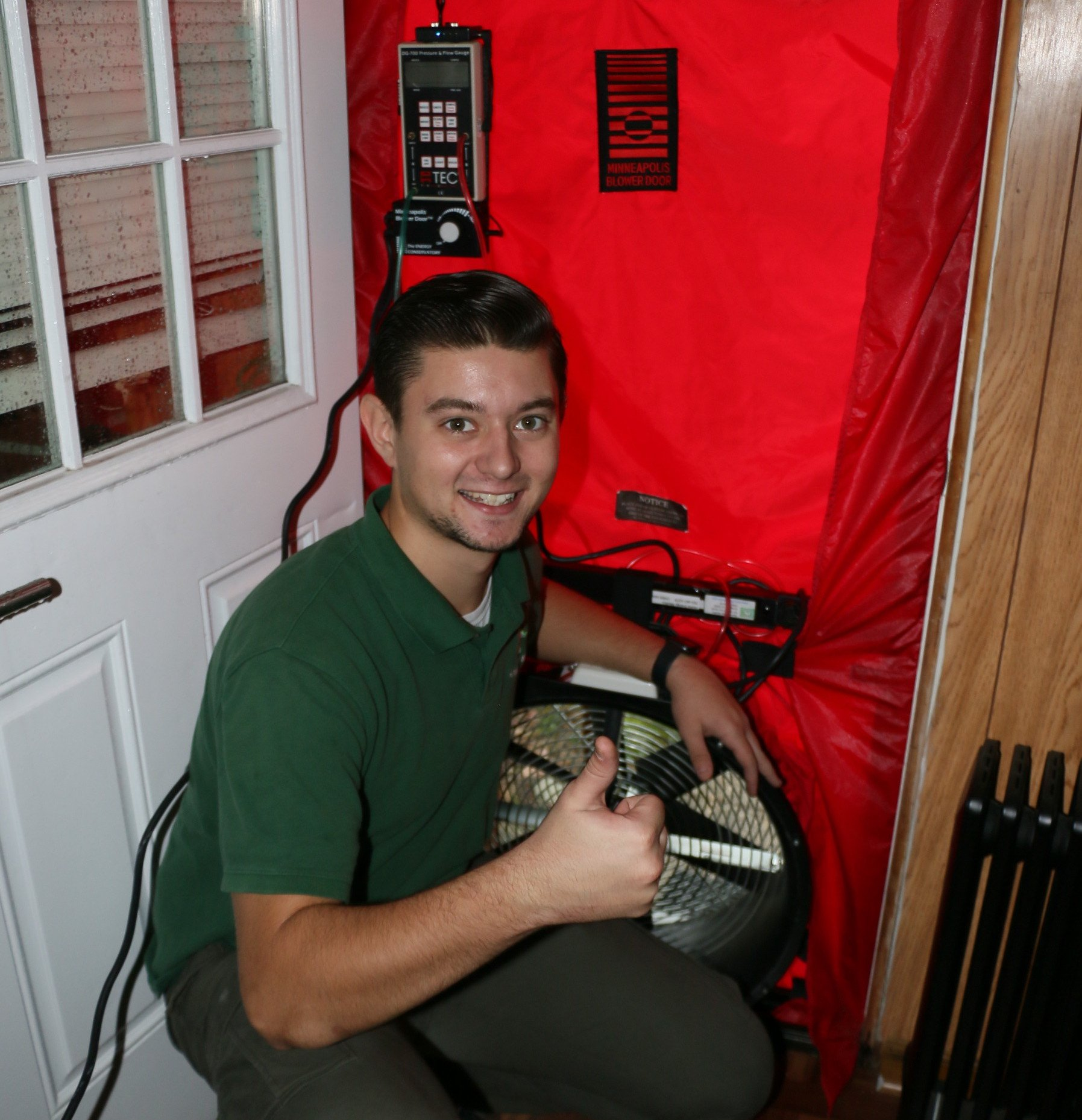 technician servicing home
