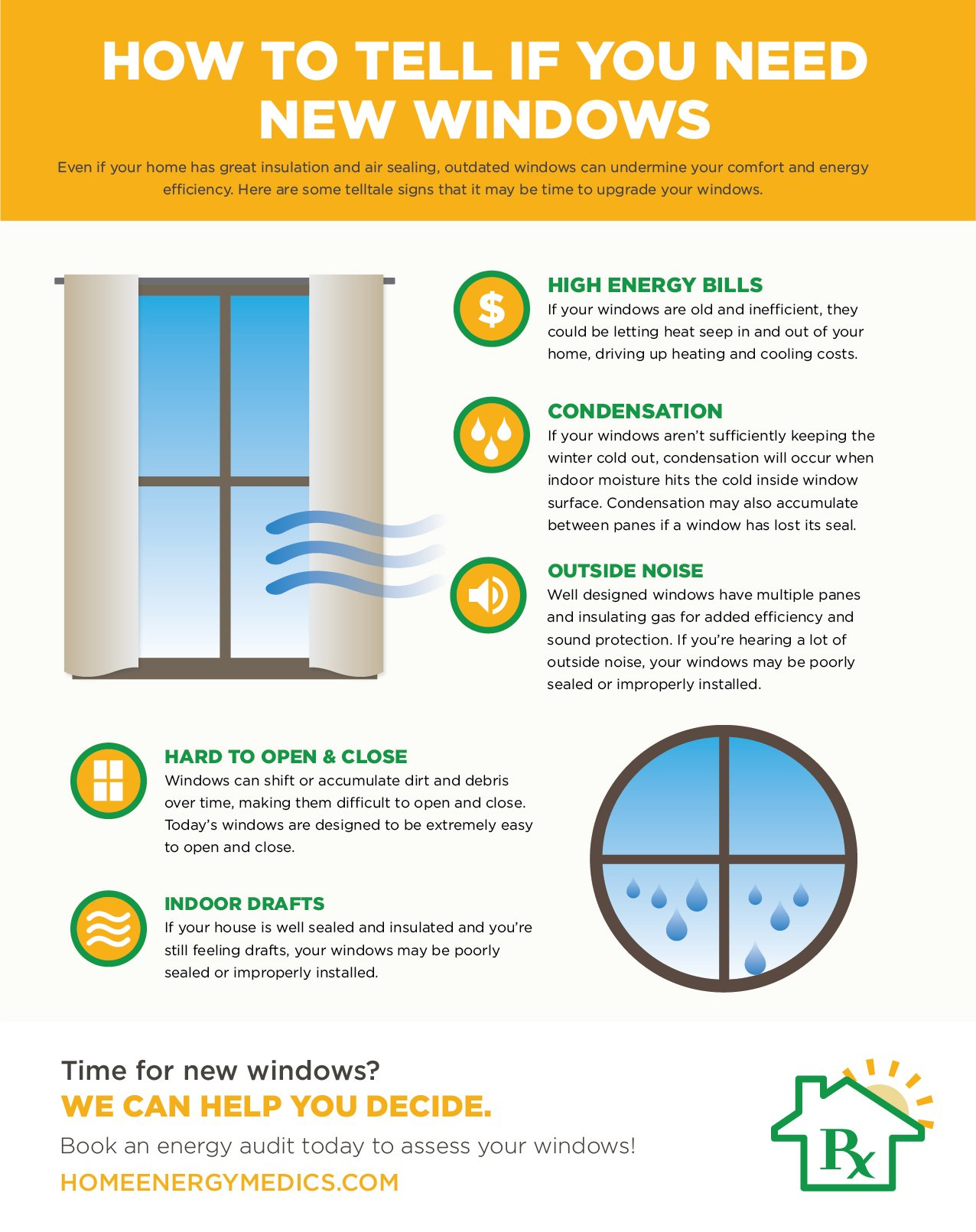 How to Tell If You Need New Windows infographic home energy medics