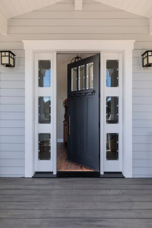 open front door of home