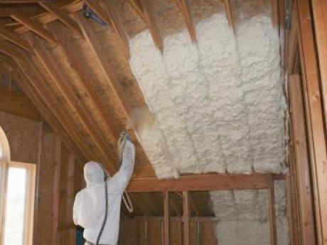 installing spray foam inside