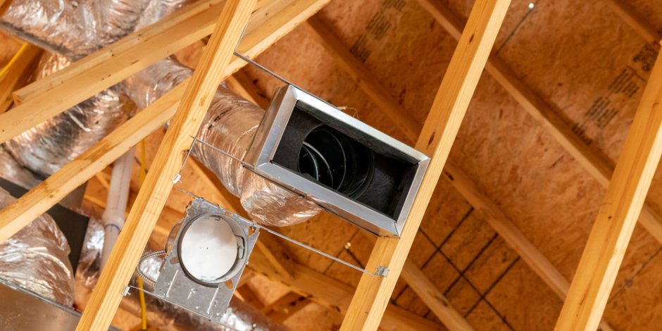 new exposed duct system in house