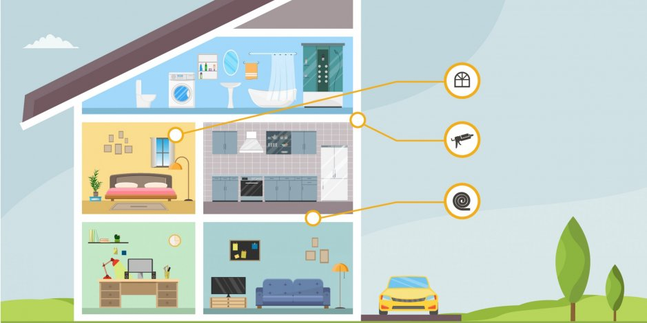 how to soundproof your home infographic header image home energy medics